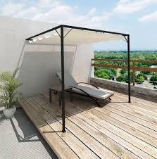Pergola Retractable Canopy by Pergola With Retractable Canopy Kit Home Design Ideas