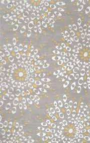 Yellow And Gray Bathroom Rug Judy Ross U0027s Signature Oversized Fauna Floral Print Takes The Floor