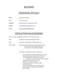 95 example hospitality resume resume australia example