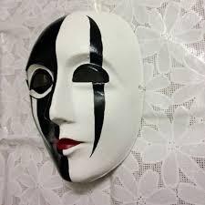 new quality handmade diy mask halloween black white ghost face