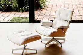 white ash eames lounge chair designcorner