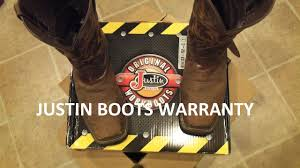 justin boots warranty youtube