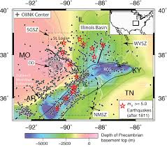 United States Fault Lines Map by Risk Of Earthquake In St Louis Higher Than People May Realize