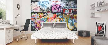 graffiti wallpaper mural kool rooms for kool kids graffiti wallpaper mural cool urban feature wall for kids