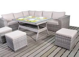 Grey Rattan Outdoor Furniture by Light Grey Corner Dining Set Left Hand Facing Rattan Dining