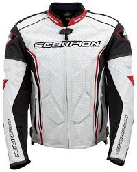 white leather motorcycle jacket scorpion clutch jacket revzilla