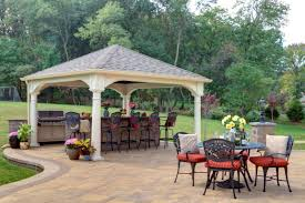 Gazebo With Bar Table Project Pavilion How To Decide On Options Byler Barns