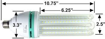 alzo 32w full spectrum led light bulb 5500k 3200 lumens 120v
