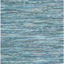Blue Striped Area Rugs Shop Blue Rag Rug On Wanelo