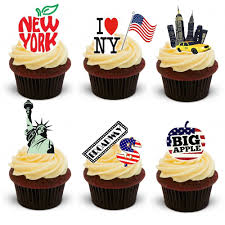 up cake topper 30 stand up new york city themed edible wafer paper cake toppers