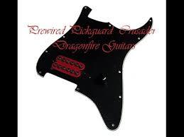 prewired pickguard crusader dragonfire guitars install video youtube