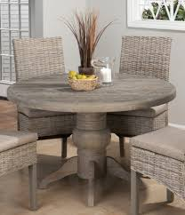 Distressed Pedestal Dining Table 36 Inch Dining Table Set Best Gallery Of Tables Furniture