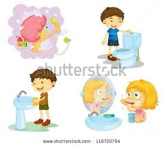 Kids Bathroom Accessories by Illustration Kids Bathroom Accessories On White Stock Vector