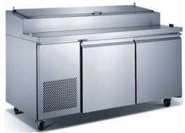 Refrigerated Prep Table by Amazon Com Saba Two Door Refrigerated Pizza Prep Table Appliances