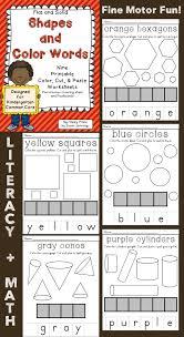 flat and solid shapes u0026 color words cut u0026 paste worksheets solid
