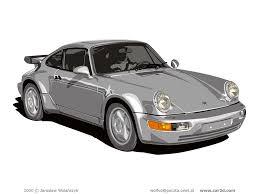 porsche vector car illustrations