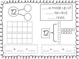 compose and decompose numbers 11 19 freebie kindergarten math