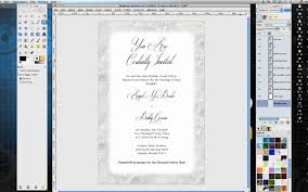 wedding invitation software how to make wedding invitations in gimp
