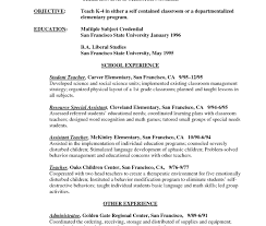 resumes exles for teachers mclean free resume education template listing and certifications on
