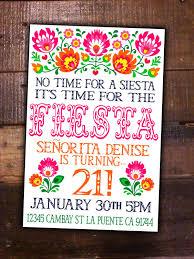 theme invitations party diy printable invite birthday mexican girl theme