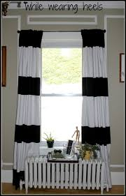 Blue And White Window Curtains Coffee Tables Blue And White Striped Curtains Dining Room Drapes