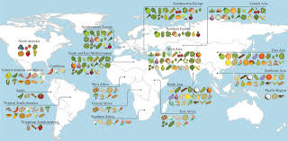 Map Of North America And Central America by A Map Of Where Your Food Originated May Surprise You Wskg