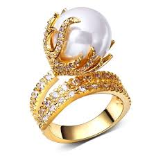 jewelry designs rings images Pearls rings with zircon crystal ring womens jewellery luxury jpg
