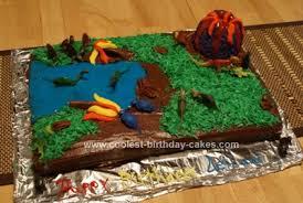 coolest dinosaur scene birthday cake idea