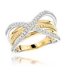 ladies rings designs images Luxurman right hand rings criss cross designer ladies diamond ring jpg
