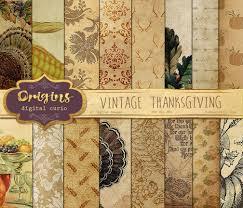 vintage thanksgiving digital paper autumn harvest bounty fall