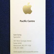 apple business card apple business card apple specialist sam sung is selling his last