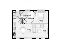 Floor Plan Granny Flat Granny Flat 60m2 1 Bedroom Clarendon Homes Floor Plans