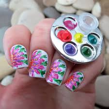 buy popular 1 pc mini finger nail art palette for free hand