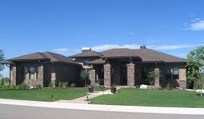 prairie style house luxurious prairie style home plan 95013rw architectural