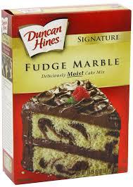 amazon com duncan hines signature cake mix fudge marble 18 25