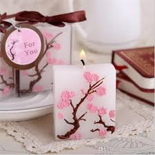 candle favors cherry blossom candle favors bridal shower wedding giveaways