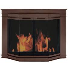 Fireplace Cover Up Fireplace Doors Fireplaces The Home Depot