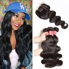 large hair 100 human hair weave hair bundles lace closure donmily hair