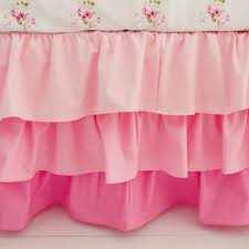 Bed Skirts For Cribs Pink Ruffled Crib Skirt Baby Bedding Pink Nursery Skirt