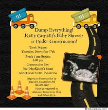 construction baby shower yellow construction baby boy shower invitation sonogram theme