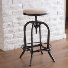 swivel modern bar stools practical adjustable swivel bar stools