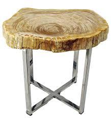 bernhardt petrified wood side table outstanding petrified wood side table roundimpact imports regarding