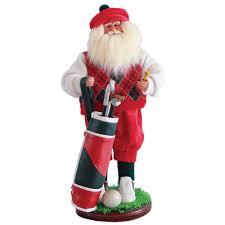 home depot canada christmas decorations santa u0027s workshop 18 in golfer santa with golf bag 6603 the home