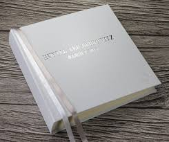 leather memory book personalised newborn baby memory book baby record book in white