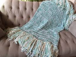 Seafoam Green Home Decor Mint Green Throw Blanket With Gold And Ivory White Mint Home