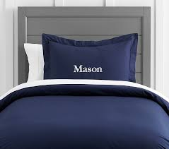 organic cotton duvet cover twin navy
