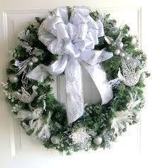reserved wreath silver and white wreath