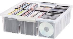amazon com large divided media storage box set of 6 home u0026 kitchen