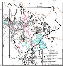 Map Of Yellowstone National Park Philosophical Transactions Of The Royal Society Of London A