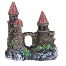 3pcs lot castle aquariums decorations castle tower